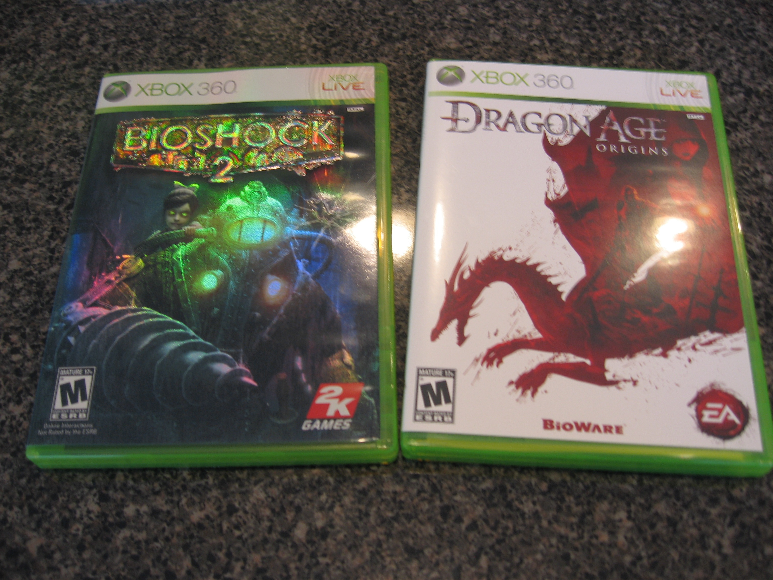 Bioshock 2 and Dragon Age Origns